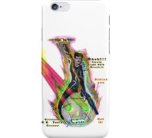 Tesla riding steed light bulb triumphantly into battle as it fires laser beams  iPhone Case/Skin