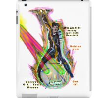 Tesla riding steed light bulb triumphantly into battle as it fires laser beams  iPad Case/Skin