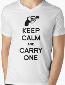 Keep Calm - Carry One Mens V-Neck T-Shirt