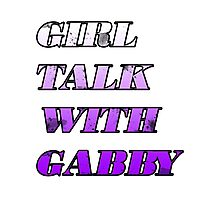 Girl Talk with Gabby Photographic Print