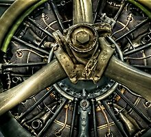 Army Airplane Engine by Ken Smith