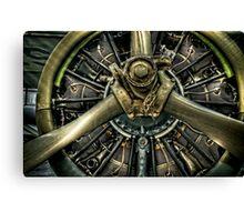 Army Airplane Engine Canvas Print