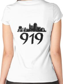 Raleigh - 919 (Black Logo) Women's Fitted Scoop T-Shirt