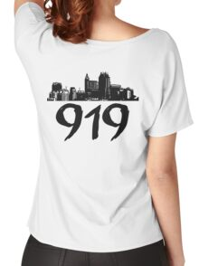 Raleigh - 919 (Black Logo) Women's Relaxed Fit T-Shirt