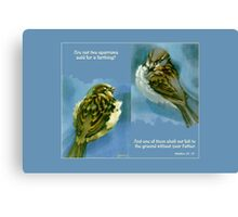 Two Sparrows Canvas Print