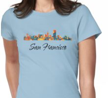 San Francisco Skyline Womens Fitted T-Shirt