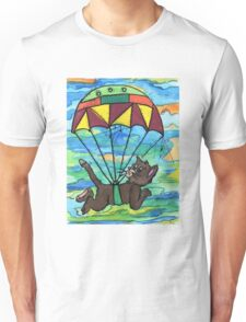 Sky diving Cool Cat  Unisex T-Shirt