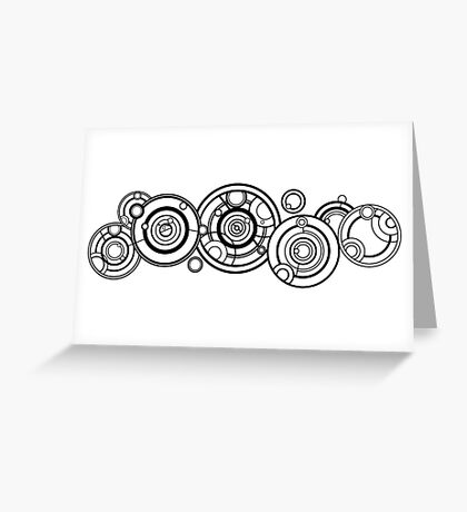 Doctor Who - The Doctor's name in Gallifreyan #1 Greeting Card