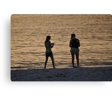 The Girls on the Beach, As Is Canvas Print