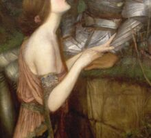 John William Waterhouse - Lamia. Lovers portrait: sensual woman, woman and man, kiss, kissing lovers, love relations, lovely couple, family, valentine's day, sexy, romance, female and male Sticker