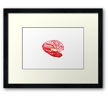 Single Red Lily Framed Print