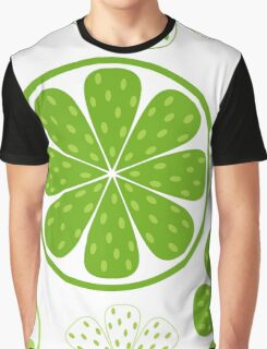 Light and fresh green limette pattern or texture Graphic T-Shirt