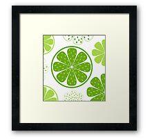Light and fresh green limette pattern or texture Framed Print