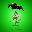 Fun Horse Jumping Christmas by Patricia Barmatz