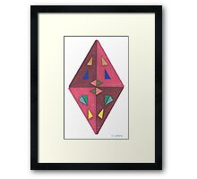 Abstract Diamond Cut Framed Print