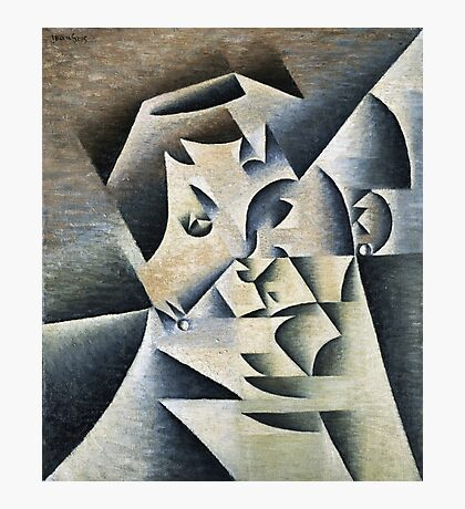 Juan Gris - Portrait Of Josette. Abstract painting: abstract art, geometric, expressionism, composition, lines, forms, creative fusion, spot, shape, illusion, fantasy future Photographic Print