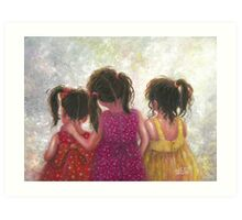 Three Little Sweet Pea Sisters Art Print