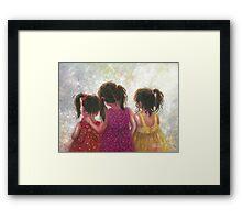 Three Little Sweet Pea Sisters Framed Print