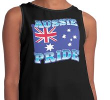 AUSSIE pride with australian flag Contrast Tank