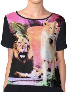 Lounging Lions Chiffon Top