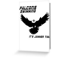 Falcons Swimming Tee 2014 Greeting Card