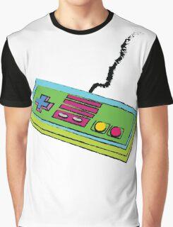NES Controller Neon 80s Colors Graphic T-Shirt