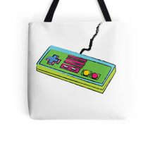 NES Controller Neon 80s Colors Tote Bag