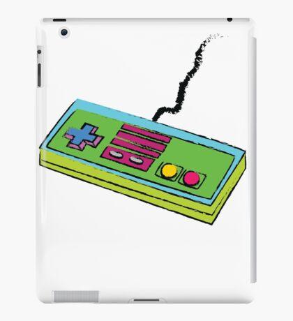 NES Controller Neon 80s Colors iPad Case/Skin