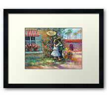 Ice Cream Hugs Framed Print