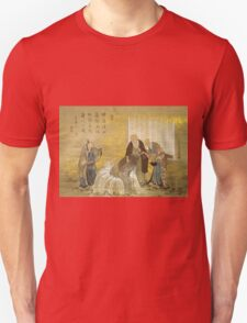 Katsushika Hokusai - Turtle As A Symbol Of Longevity. People portrait: party, woman and man, people, family, female and male, peasants, crowd, romance, women and men, city, home society Unisex T-Shirt