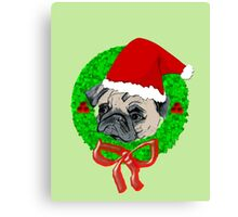 Christmas Pug Canvas Print