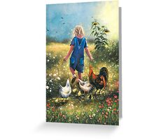 Country Chicks Greeting Card