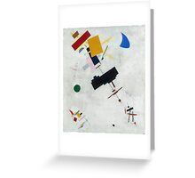 Kazimir Malevich - Suprematism. Abstract painting: abstract art, geometric, expressionism, composition, lines, forms, creative fusion, spot, shape, illusion, fantasy future Greeting Card