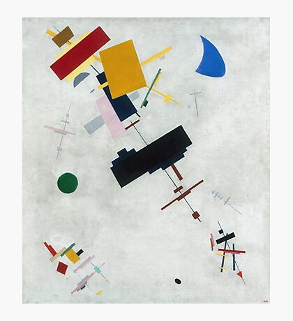 Kazimir Malevich - Suprematism. Abstract painting: abstract art, geometric, expressionism, composition, lines, forms, creative fusion, spot, shape, illusion, fantasy future Photographic Print