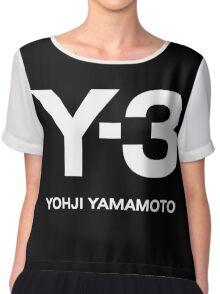 Y3 YOHJI YAMAMOTO Chiffon Top