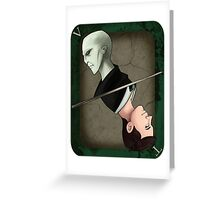 Lord Voldemort Playing Card Greeting Card