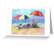 At the Beach With Mom Greeting Card