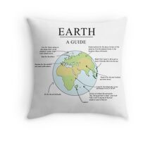 Earth: A Guide (Poster) Throw Pillow