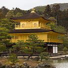 Golden Pavilion in Kyoto, Japan Pillow by RDography