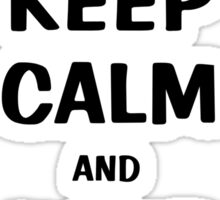 Keep Calm and Jump On Horse Sticker