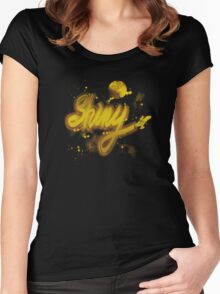 shiny 2 Women's Fitted Scoop T-Shirt