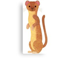 W is for Weasel Canvas Print