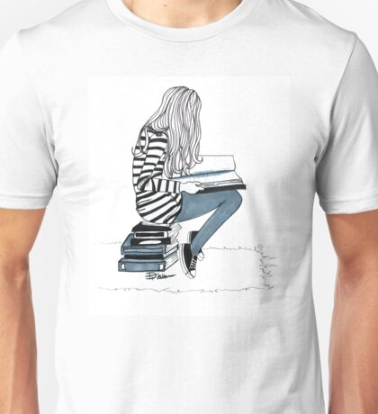 Reading Girl Unisex T-Shirt