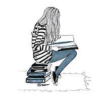 Reading Girl Photographic Print