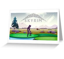 Skyrim Tundra Postcard Greeting Card