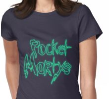 Rick & Morty-Pocket Mortys Womens Fitted T-Shirt