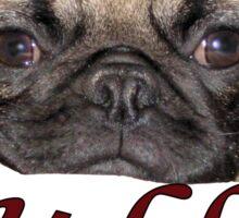 Cute iCuddle Pug Puppy Art, iPhone & iPad Cases Sticker