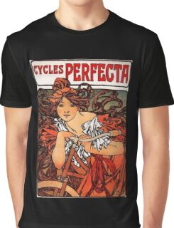 'Cycles Perfecta' by Alphonse Mucha (Reproduction) Graphic T-Shirt