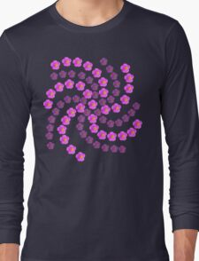 Pink Wildflower - Floral Galaxy Long Sleeve T-Shirt