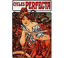 'Cycles Perfecta' by Alphonse Mucha (Reproduction) Photographic Print